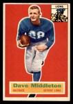 1956 Topps #68  Dave Middleton  Front Thumbnail