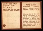 1967 Philadelphia #67  Mike Lucci  Back Thumbnail
