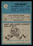 1964 Philadelphia #3  John Mackey   Back Thumbnail