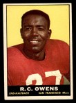 1961 Topps #61  R.C. Owens  Front Thumbnail