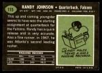 1969 Topps #115  Randy Johnson  Back Thumbnail