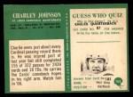 1966 Philadelphia #163  Charlie Johnson  Back Thumbnail