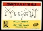 1964 Philadelphia #56   -  Tom Landry  Cowboys Play of the Year Front Thumbnail