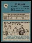 1964 Philadelphia #90  Ed Meador  Back Thumbnail