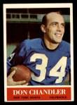 1964 Philadelphia #115  Don Chandler   Front Thumbnail