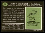 1969 Topps #24  Jerry Simmons  Back Thumbnail