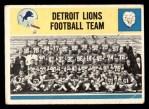 1964 Philadelphia #69   Lions Team Front Thumbnail