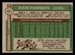 1976 Topps #357  Ken Forsch  Back Thumbnail