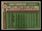 1976 Topps #26  Andre Thornton  Back Thumbnail