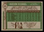 1976 Topps #588  Kevin Kobel  Back Thumbnail