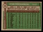 1976 Topps #388  Stan Perzanowski  Back Thumbnail