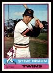 1976 Topps #183  Steve Braun  Front Thumbnail
