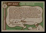 1976 Topps #69  Jim Hegan / Mike Hegan   Back Thumbnail
