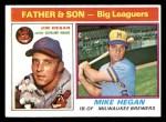 1976 Topps #69  Jim Hegan / Mike Hegan   Front Thumbnail