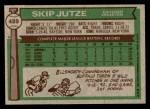 1976 Topps #489  Skip Jutze  Back Thumbnail