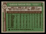 1976 Topps #327  Dave Moates  Back Thumbnail
