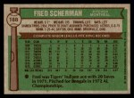 1976 Topps #188  Fred Scherman  Back Thumbnail