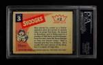 1959 Fleer Three Stooges #2   Moe  Back Thumbnail