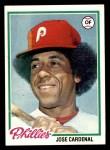 1978 Topps #210  Jose Cardenal  Front Thumbnail