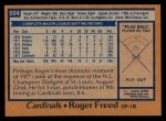1978 Topps #504  Roger Freed  Back Thumbnail