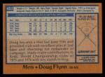 1978 Topps #453  Doug Flynn  Back Thumbnail