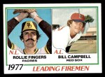 1978 Topps #208   -  Rollie Fingers / Bill Campbell Leading Firemen Front Thumbnail