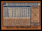 1978 Topps #373  Jim Willoughby  Back Thumbnail
