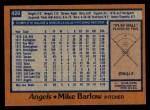 1978 Topps #429  Mike Barlow  Back Thumbnail