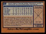 1978 Topps #437  Bo McLaughlin  Back Thumbnail