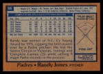 1978 Topps #56  Randy Jones  Back Thumbnail