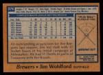 1978 Topps #376  Jim Wohlford  Back Thumbnail