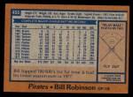 1978 Topps #455  Bill Robinson  Back Thumbnail