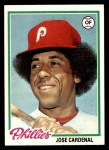 1978 Topps #210  Jose Cardenal  Front Thumbnail