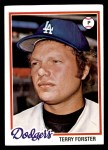 1978 Topps #347  Terry Forster  Front Thumbnail