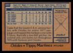 1978 Topps #393  Tippy Martinez  Back Thumbnail