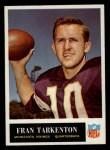 1965 Philadelphia #110  Fran Tarkenton    Front Thumbnail