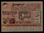 1958 Topps #97 YN Larry Jackson  Back Thumbnail