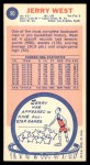 1969 Topps #90  Jerry West  Back Thumbnail