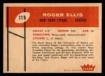 1960 Fleer #119  Roger Ellis  Back Thumbnail