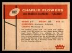 1960 Fleer #102  Charlie Flowers  Back Thumbnail