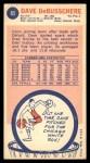 1969 Topps #85  Dave Debusschere  Back Thumbnail