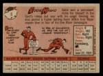 1958 Topps #8 WN Eddie Kasko  Back Thumbnail