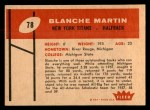 1960 Fleer #78  Blanche Martin  Back Thumbnail