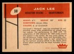 1960 Fleer #38  Jacky Lee  Back Thumbnail
