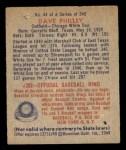 1949 Bowman #44  Dave Philley  Back Thumbnail