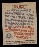 1949 Bowman #10  Ted Gray  Back Thumbnail