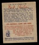 1949 Bowman #121  Mark Christman  Back Thumbnail