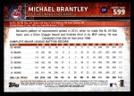 2015 Topps #599 A Michael Brantley  Back Thumbnail