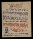 1949 Bowman #223  Bobby Hofman  Back Thumbnail