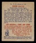 1949 Bowman #75  Eddie Mayo  Back Thumbnail
